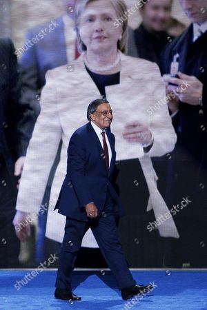Former Congressman Director of the Central Intelligence Agency and Secretary of Defense Leon Panetta Walks on Stage to Deliver Remarks on the Third Day of the Democratic National Convention at the Wells Fargo Center in Philadelphia Pennsylvania Usa 27 July 2016 the Four-day Convention is Expected to End with Hillary Clinton Formally Accepting the Nomination of the Democratic Party As Their Presidential Candidate in the 2016 Election United States Philadelphia
