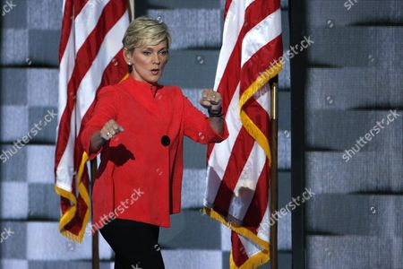 Stock Picture of Former Michigan Governor Jennifer Granholm Walks on Stage to Deliver Remarks During the Final Day of the Democratic National Convention at the Wells Fargo Center in Philadelphia Pennsylvania Usa 28 July 2016 the Four-day Convention is Expected to End with Hillary Clinton Formally Accepting the Nomination of the Democratic Party As Their Presidential Candidate in the 2016 Election United States Philadelphia
