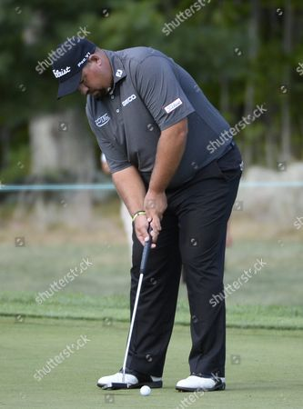 Brendon De Jonge of Zimbabwe Putting on the Seventh Green During the First Round of the Deutsche Bank Golf Tournament Held at the Tournament Players Club Boston in Norton Massachusetts Usa 04 September 2015 United States Norton