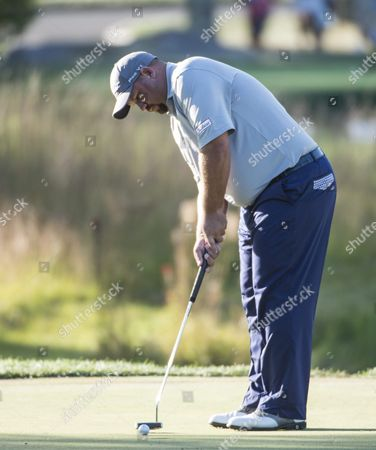 Brendon De Jonge of Zimbabwe Putts on the 16th Green During the Third Round of the Deutsche Bank Tournament Held at the Tournament Players Club Boston in Norton Massachusetts Usa 06 September 2015 the Tournament Runs Through the Labor Day Holiday on 07 September United States Norton