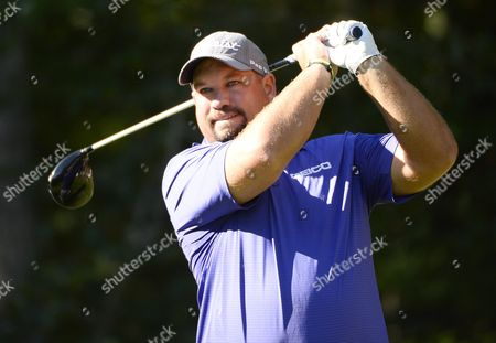 Brendon De Jonge of Zimbabwe Hits His Tee Shot on the Second Hole During the Second Round of the Deutsche Bank Tournament Held at the Tournament Players Club Boston in Norton Massachusetts Usa 05 September 2015 the Tournament Runs Through the Labor Day Holiday on 07 September United States Norton