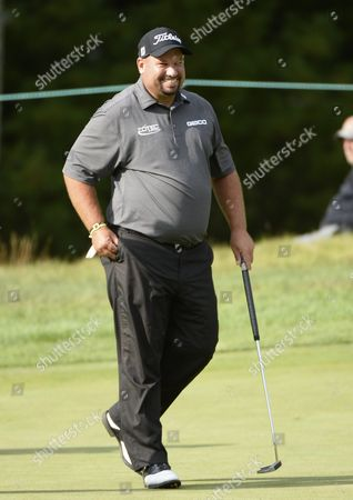 Brendon De Jonge of Zimbabwe Smiles After a Birdie on the Fifth Green During the First Round of the Deutsche Bank Tournament Held at the Tournament Players Club Boston in Norton Massachusetts Usa 04 September 2015 United States Norton