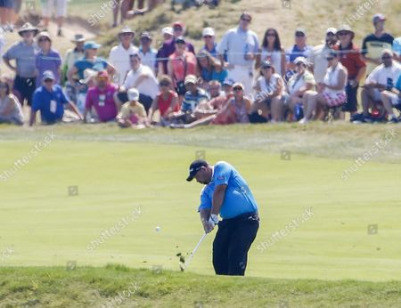 Brendon De Jonge of Zimbabwe Hits From the Eighth Fairway During the Third Round of the 97th Pga Championship Golf Tournament at Whistling Straits in Kohler Wisconsin Usa 15 August 2015 United States Kohler