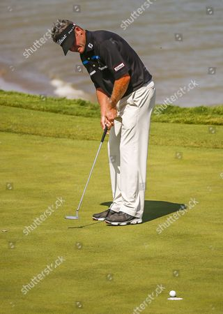 Jason Bohn of the Us Putts on the Third Green During Round One of the 97th Pga Championship Golf Tournament at Whistling Straits in Kohler Wisconsin Usa 13 August 2015 United States Kohler