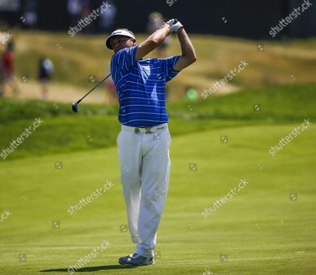 Jason Bohn of the Us Hits His Second Shot on the Eleventh Hole During Round Three of the 97th Pga Championship Golf Tournament at Whistling Straits in Kohler Wisconsin Usa 15 August 2015 United States Kohler
