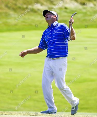 Jason Bohn of the Us Reacts to His Putt As It Misses the Cup on the Eleventh Green During Round Three of the 97th Pga Championship Golf Tournament at Whistling Straits in Kohler Wisconsin Usa 15 August 2015 United States Kohler