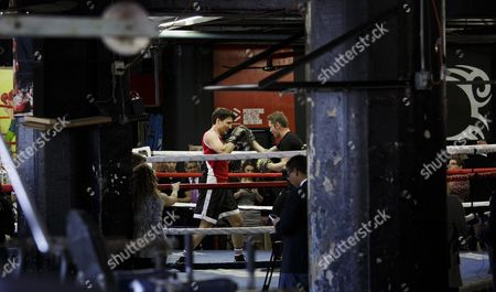 Stock Picture of Canadian Prime Minister Justin Trudeau (l) Spars with Yuri Foreman (r) During a Work out at Gleason's Gym in Brooklyn New York Usa 21 April 2016 Trudeau is in New York to Participate in the Formal Signing of the Paris Climate Agreement on 22 April at the United Nations United States Brooklyn