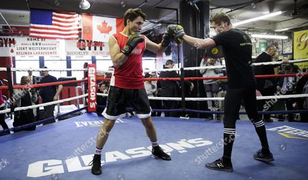 Editorial photo of Usa New York Canadian Pm Trudeau at Boxing Gym - Apr 2016