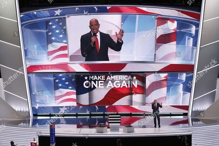Tom Barrack Ceo of Colony Capital Delivers Remarks in the Quicken Loans Arena on the Final Day of the 2016 Republican National Convention in Cleveland Ohio Usa 21 July 2016 the Four-day Convention is Expected to End with Donald Trump Formally Accepting the Nomination of the Republican Party As Their Presidential Candidate in the 2016 Election United States Cleveland