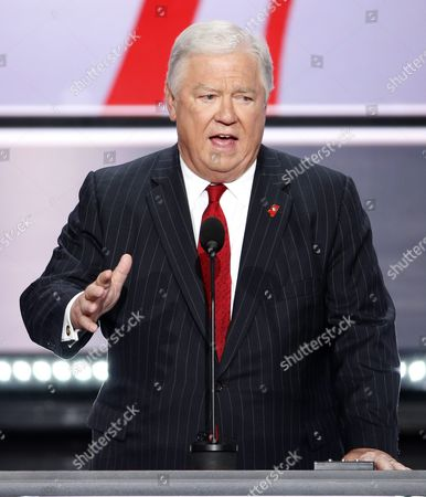 Former Governor of Mississippi Haley Barbour Delivers Remarks in the Quicken Loans Arena on the First Day of the 2016 Republican National Convention in Cleveland Ohio Usa 18 July 2016 the Four-day Convention is Expected to End with Donald Trump Formally Accepting the Nomination of the Republican Party As Their Presidential Candidate in the 2016 Election United States Cleveland