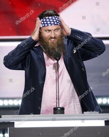 Ceo of the Duck Commander Willie Robertson Reacts During the First Day of the 2016 Republican National Convention at Quicken Loans Arena in Cleveland Ohio Usa 18 July 2016 the Four-day Convention is Expected to End with Donald Trump Formally Accepting the Nomination of the Republican Party As Their Presidential Candidate in the 2016 Election United States Cleveland
