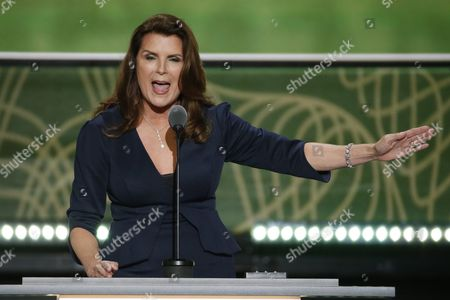 Stock Image of Us Actress Kimberlin Brown Speaks on the Second Day of the 2016 Republican National Convention at Quicken Loans Arena in Cleveland Ohio Usa 19 July 2016 the Four-day Convention is Expected to End with Donald Trump Formally Accepting the Nomination of the Republican Party As Their Presidential Candidate in the 2016 Election United States Cleveland