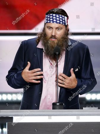 Ceo of the Duck Commander Willie Robertson Gestures During the First Day of the 2016 Republican National Convention at Quicken Loans Arena in Cleveland Ohio Usa 18 July 2016 the Four-day Convention is Expected to End with Donald Trump Formally Accepting the Nomination of the Republican Party As Their Presidential Candidate in the 2016 Election United States Cleveland