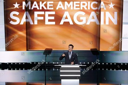 Us Actor Antonio Sabato Jr Delivers Remarks on the First Day of the 2016 Republican National Convention at the Quicken Loans Arena in Cleveland Ohio Usa 18 July 2016 the Four-day Convention is Expected to End with Donald Trump Formally Accepting the Nomination of the Republican Party As Their Presidential Candidate in the 2016 Election United States Cleveland