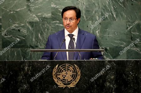 Sheikh Jaber Al-mubarak Al-hamad Al Sabah Prime Minister of the State of Kuwait Addresses the General Debate of the 71st Session of the United Nations General Assembly at Un Headquarters in New York New York Usa 21 September 2016 United States New York