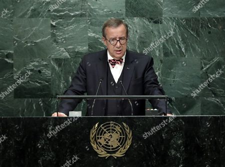 President of Estonia Toomas Hendrik Ilves Addresses the General Debate of the 71st Session of the United Nations General Assembly at Un Headquarters in New York New York Usa 21 September 2016 United States New York