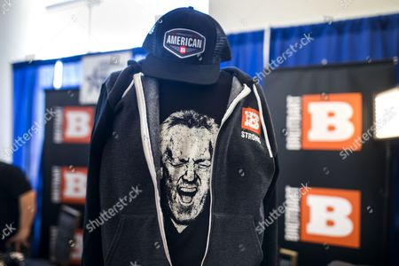 The late founder of Bretibart News, Andrew Breitbart, is seen on a t-shirt at the 44th Annual Conservative Political Action Conference (CPAC) at the Gaylord National Resort & Convention Center in National Harbor, Maryland, USA, 23 February 2017. US President Trump is expected to address the conference on 24 February.