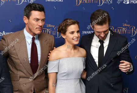 Luke Evans, Emma Watson and Dan Stevens