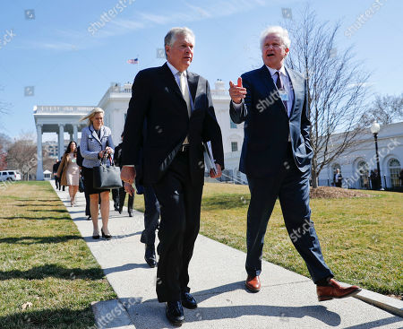 Doug Oberhelman, Jeffrey Immelt Caterpillar CEO Doug Oberhelman, left, GE CEO Jeffrey Immelt, and other manufacturing executives leave the White House in Washington, following their meeting with President Donald Trump