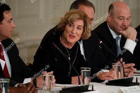 Donald Trump, Denise Morrison Campbell Soup CEO Denise Morrison speaks during a meeting between President Donald Trump and manufacturing executives in the Roosevelt Room of the White House in Washington