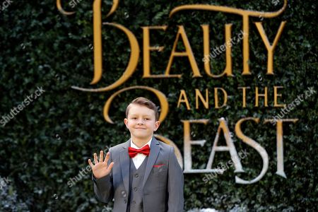 Nathan Mack arrives for the Beauty And The Beast Premiere, in London