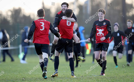 UCC vs UCD. UCC's Timmy Murphy and Rob Lynch celebrate at the final whistle