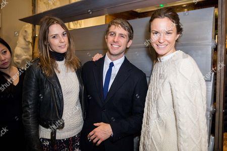 Stock Photo of Caroline Lever, Alessandro Bortolotto Possati and Fran Hickman