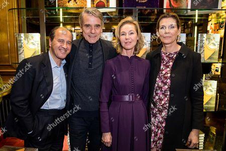 Stock Image of Prosper Assouline, Jeremy Irons, Francesca Bortolotto Possati and Martine Assouline