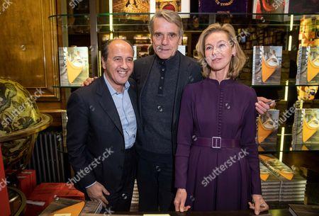Prosper Assouline, Jeremy Irons and Francesca Bortolotto Possati