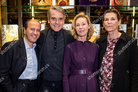 Stock Photo of Prosper Assouline, Jeremy Irons, Francesca Bortolotto Possati and Martine Assouline