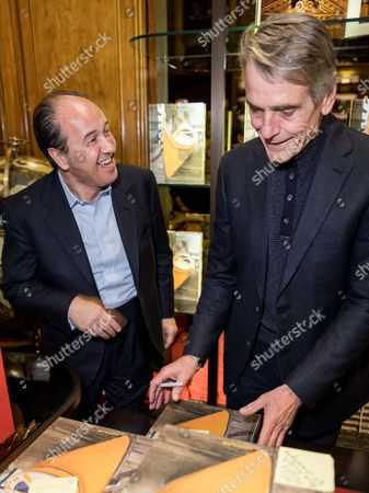 Stock Image of Prosper Assouline and Jeremy Irons