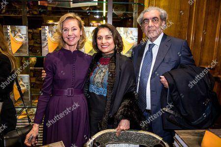 Stock Photo of Francesca Bortolotto Possati, Anita Choudhrie and Sudhir Choudhrie