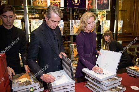 Jeremy Irons and Francesca Bortolotto Possati