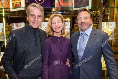 Jeremy Irons, Francesca Bortolotto Possati and Sir Rocco Forte