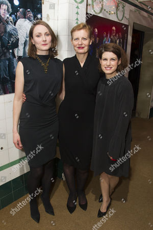 Stock Picture of Anna Madeley (Helena), Anastasia Hille (Titania) and Jemima Rooper (Hermia)