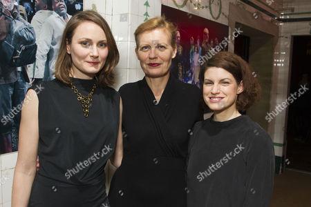 Anna Madeley (Helena), Anastasia Hille (Titania) and Jemima Rooper (Hermia)