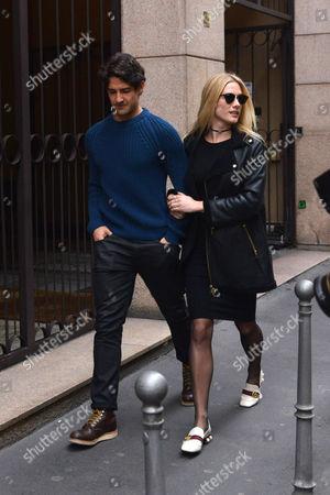 Pato with his girlfriend Fiorella Mattheis