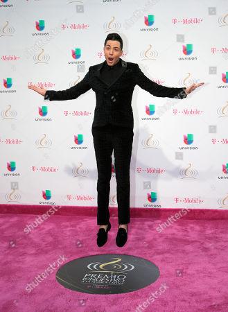 Luis Coronel arrives at the Premio Lo Nuestro Latin Music Awards, in Miami