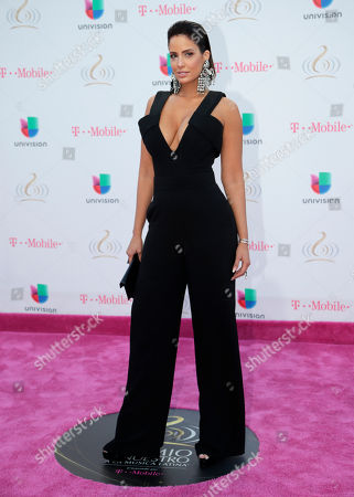 Aleyda Ortiz arrives for the Premio Lo Nuestro Latin Music Awards, in Miami