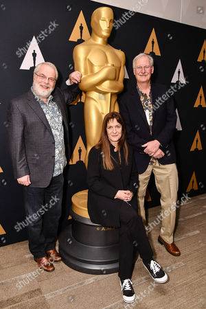 Stock Picture of Ron Clements, Osnat Shurer and John Musker