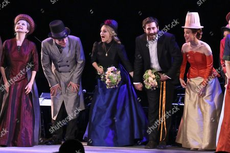Editorial image of 'Sunday in the Park With George' play opening night, Curtain Call, New York, USA - 23 Feb 2017