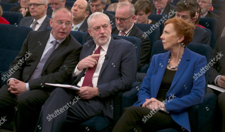 Stock Photo of Sergei Stanishev, Jeremy Corbyn, Baroness Janet Royall
