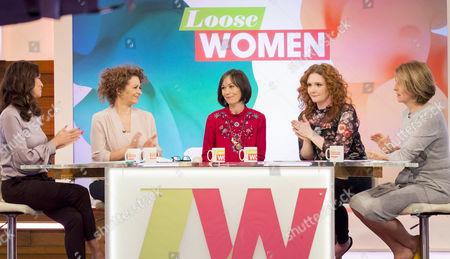 Stock Picture of Andrea McLean, Nadia Sawalha, Leah Bracknell, Jennie McAlpine and Kaye Adams