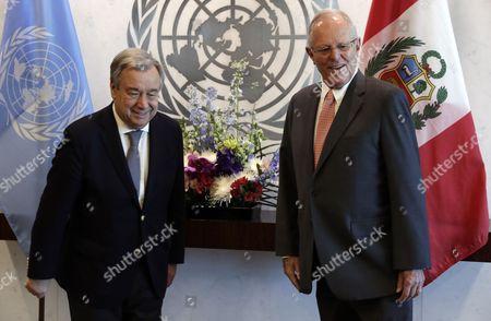 Editorial image of Peruvian President Pedro Pablo Kuczynski Godard at UN, New York, USA - 24 Feb 2017