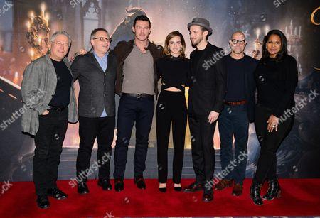 Alan Menken, Bill Condon, Luke Evans, Emma Watson, Dan Stevens, Stanley Tucci and Audra McDonald