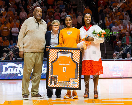 senior Jordan Reynolds #0 of the Tennessee Lady Volunteers is recognized before the NCAA basketball game between the University of Tennessee Lady Volunteers and the University of Florida Gators at Thompson Boling Arena in Knoxville TN Tim Gangloff/CSM