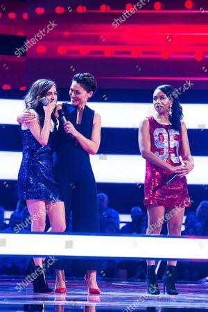 Stock Picture of Episode 8: The Battles: Team Will: Clara Hurtado -v- Shakira.   Emma Willis
