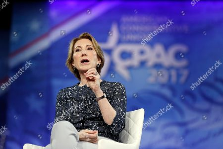 Stock Picture of Carly Fiorina speaks at the Conservative Political Action Conference (CPAC), in Oxon Hill, Md