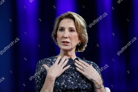 Carly Fiorina speaks at the Conservative Political Action Conference (CPAC), in Oxon Hill, Md