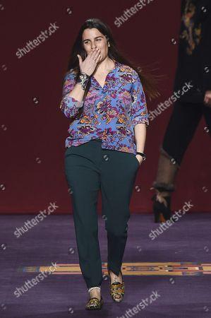 Veronica Etro on the catwalk